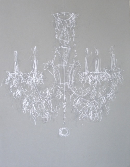 THE CHANDELIER DRAWINGS #8  2006 CATHERINE L. JOHNSON
