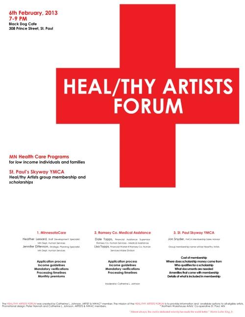 HEAL/THY ARTISTS FORUM + CATHERINE L. JOHNSON