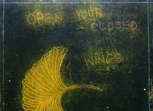 GinkgoWINGs: OPENY/OURCLOSEDWINGSNOW (detail) 2013 CATHERINE L. JOHNSON; CATHERINE L. JOHNSON;