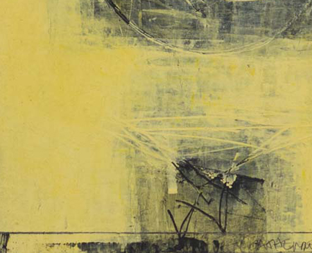 Yellow Night:RISE VII (close up) 2012 CATHERINE L. JOHNSON; CATHERINE L. JOHNSON: