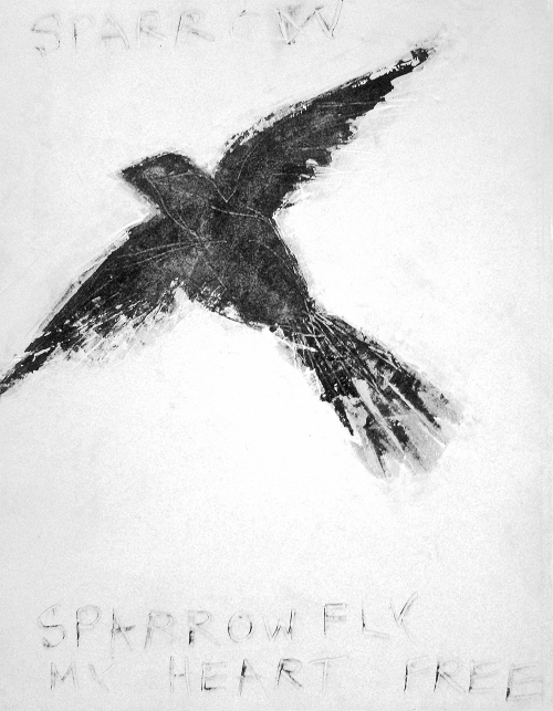 SPARROWFLYMYHEARTFREE  2010  B/W  Catherine L. Johnson; Catherine L. Johnson;