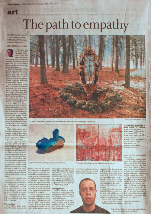 REVIEW_MARY ABBE_HUMANLY_POSSIBLE_THE_EMPATHY_SHOW_PUBLISHED_MPLS_STRIB_1JAN2016__CORRECTED
