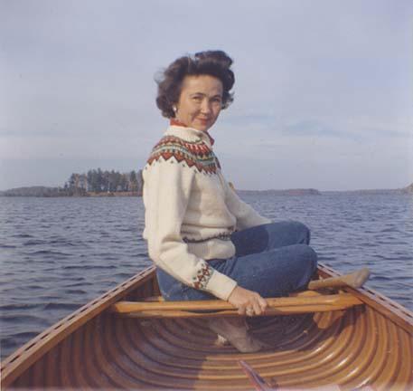 Jane Matteson on water